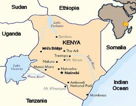 Kaart Kenia