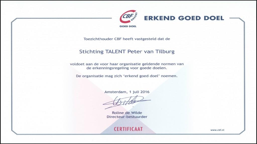 CBF-certificaat 2016